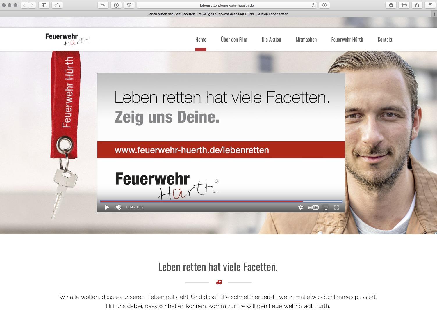 Foto der Webseite Feuerwehr Hürth
