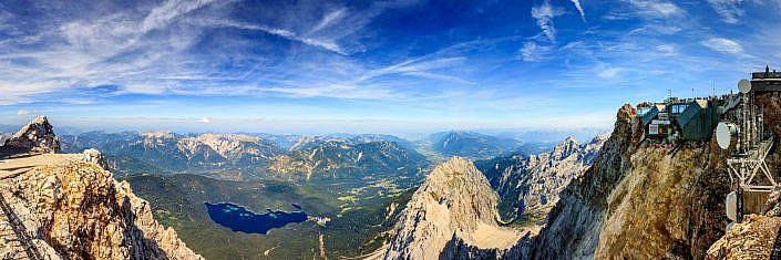 """Panorama Zugspitze """" Panorama Aufnahme von der Zugspitze Richtung Eibsee """" Photo taken by Fotograf Patrick Gawandtka"""