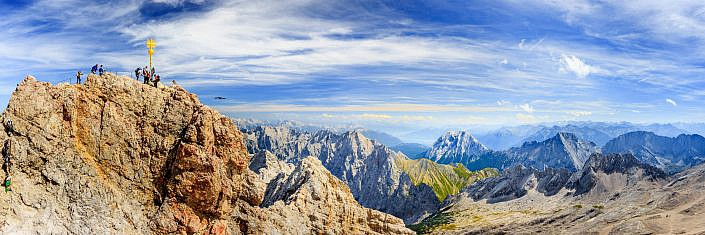 """Panorama Zugspitze """" Panorama Aufnahme von der Zugspitze """" Photo taken by Fotograf Patrick Gawandtka"""
